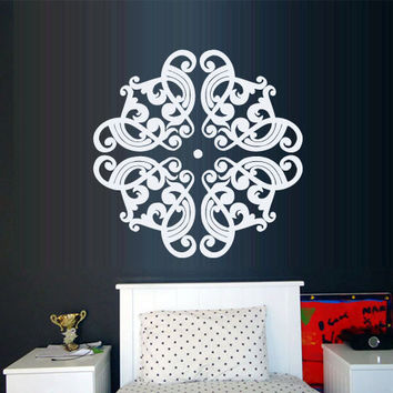 Wall Decal Vinyl  Mural Sticker Art Decor Bedroom Yoga Kitchen Ceiling Mandala Menhdi Flower Pattern Ornament Om Indian Hindu Buddha (z2873)