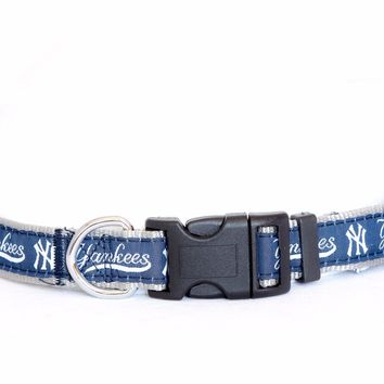 New York Yankees Dog Collar MLB Baseballl Officially Licensed Pet Product