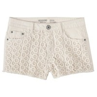 Mossimo Supply Co. Junior's Lace High Waisted Denim Short