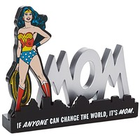 Hallmark Wonder Woman Mom Quote Sign Desk Accessory New
