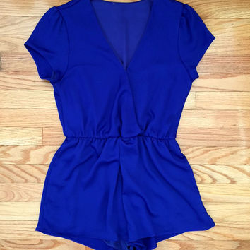 Midnight Hour Romper in Cobalt