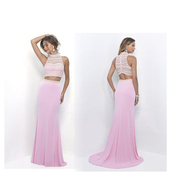 2016 Latest Beaded Crystal Floor Length Mermaid Prom Dress Sleeveless Pink Party Dress Formal Evening Gown Formal Women