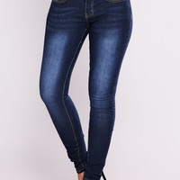 Real Love Skinny Jeans - Dark Denim