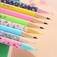 24pcs/lot 0.7mm Candy and Flower Write unceasing  pencil Free cutting Mechanical Pencils   escolar writing pens school supplies