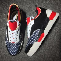 Cl Christian Louboutin Mid Style #2128 Sneakers Fashion Shoes