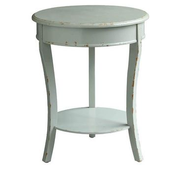 Darcy Shaped 3 Leg Ash Grey Accent Table By Crestview Collection Cvfzr2232
