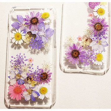 Pressed Flower iPhone Case, iPhone 6 Case, iPhone 6 Plus Case, iPhone 5s Case, iPhone 5 Case, iPhone 5c Case, Real Flower iPhone Case, Resin
