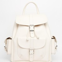 Mango Buckle Leather Back Pack