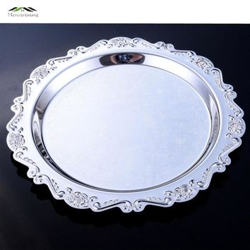 Elegant Baroque Relief Dessert Fruit Cupcake Cake Stand Plate Fruits Tray Pallet Decoration Wedding Party Dishes & Plates 09901