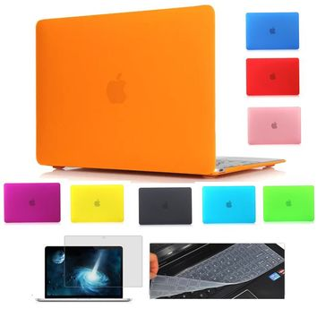 Crystal Laptop Bag Shell For Mac book Air 11.6 Pro 13.3 15.6 inch Hard Case Cover For Apple Macbook Pro Retina 11 12 13 15
