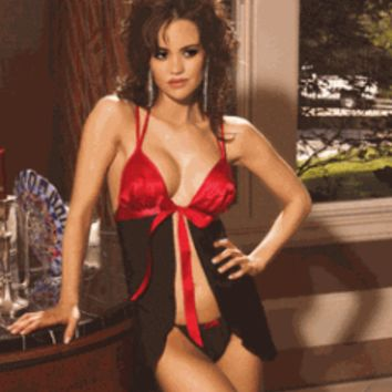 Beautiful Chiffon Babydoll With Satin Cups