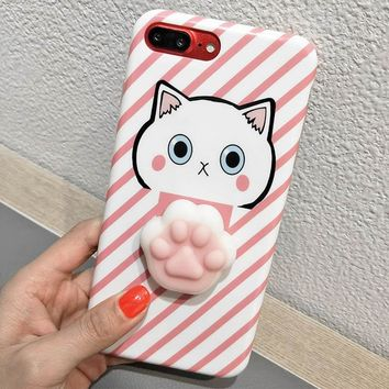 Antistress Coque For iPhone 6 6S Plus 7 7 Plus Case Soft Silicone Squishes Panda Animal Case For iPhone X 8 8 Plus Squishy Cover