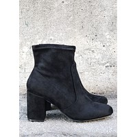 Marie Basic Black Bootie