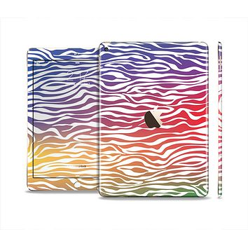 The Colorful Vector Zebra Animal Print Skin Set for the Apple iPad Air 2