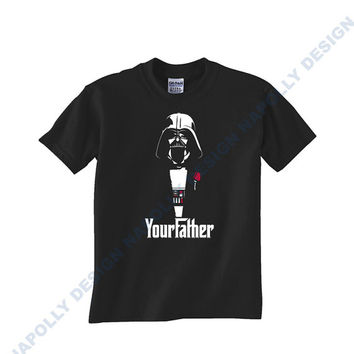 Star Wars God Father Your Father Custom Tshirt for men's , T shirt Cotton, Funny T shirt, Awesome T shirt, best design and clothing