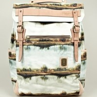 Master-piece x Nowartt Collaboration Series Landscape Print Backpack