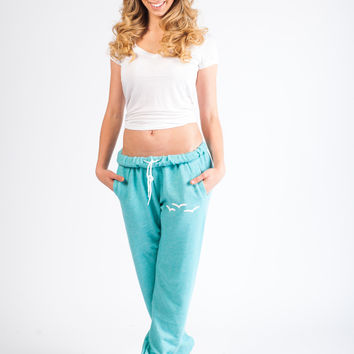 STELLA Mint French Fleece Lazypants