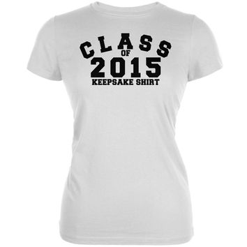 Graduation - Class Keepsake 2015 White Juniors Soft T-Shirt