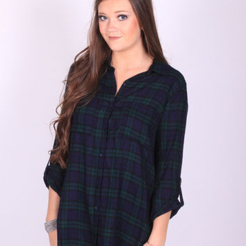 Plaid To Meet You Top