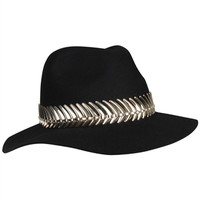 METAL TRIM FEDORA