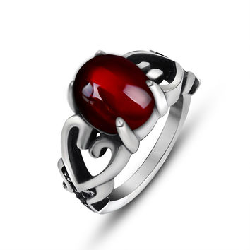 New Arrival Gift Stylish Shiny Jewelry Hollow Out Strong Character Couple Titanium Accessory Ring [6542649347]