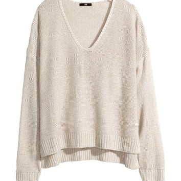 Purl-knit Sweater - from H&M