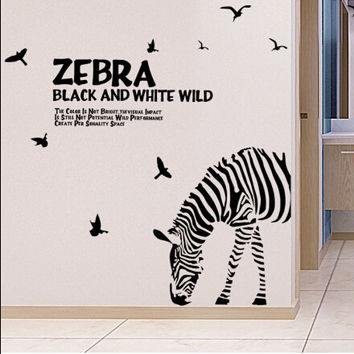 Zebra pattern on the wall on the wall of the sell like hot cakes mobile household wall stick the living room wall SM6