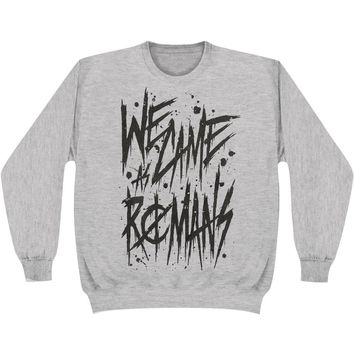 We Came As Romans Men's  Handwritten Sweatshirt Grey Rockabilia