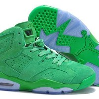 Cheap Air Jordan 6 Men Shoes Fur Green White On Sale