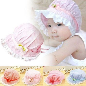 PEAP78W 0-12Months Boy Baby Toddler Cotton Bucket Hat Summer Sun Beach Bonnet Beanie Cap DH