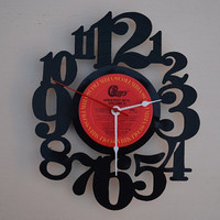 Vinyl Record Clock (artist is Chicago)