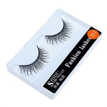 New Qualified makeup 1 Pairs Long Makeup Cross Thick False 3D Dense Eyelashes Eye Lashes Nautral