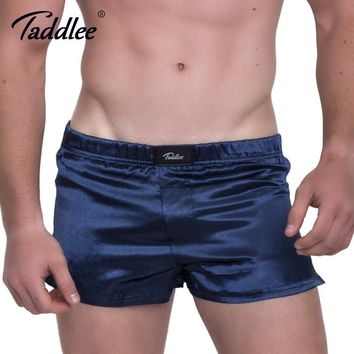 Taddlee Brand Sexy Men's Boxer Shorts Trunks Gay Sleepwear Home Short Bottoms 2017 New Boxers Casual Solid Basic Trunk