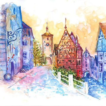 Print from Original Watercolor Travel  Art by Mysoulfly on Etsy