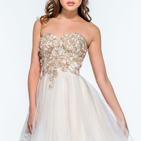 Short Strapless Sweetheart Dress by Terani