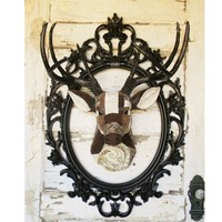 Upholstered Faux Deer Head Wall Mount - Colorful Cast and Crew