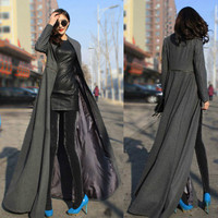 Europe and the United States and put the goddess slim coat collar mop long skirt coat dress coat
