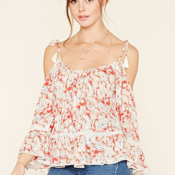 Floral Open-Shoulder Top