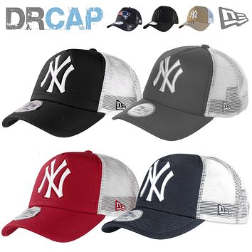 NEW ERA TRUCKER TEAMS INC NEW YORK NY YANKEES SNAPBACK ADJUSTABLE BASEBALL CAPS