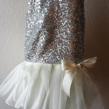Party at Gatsby's, Gatsby Dress, Flapper Dress, Roaring 20's Dress, Wedding Dress, Party Dress, Holiday Sequin, Girls Dress, Birthday Girl