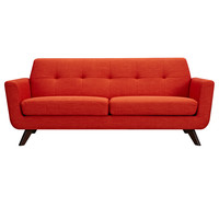 Dania Sofa Retro Orange - Walnut