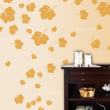 Large reusable Maple Tree leaf stencils