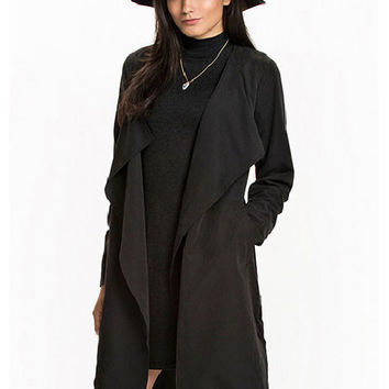 Trench Long Sleeve Belted Coat