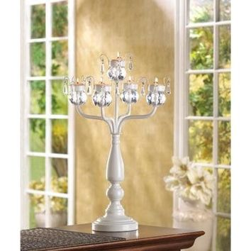 Dazzling And Romantic Iron Standing Tealight Candelabra w/ 10 Tealight Candles
