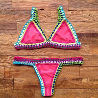 Swimsuit New Arrival Summer Sexy Hot Beach Red Swimwear Stylish Bikini [4914833476]
