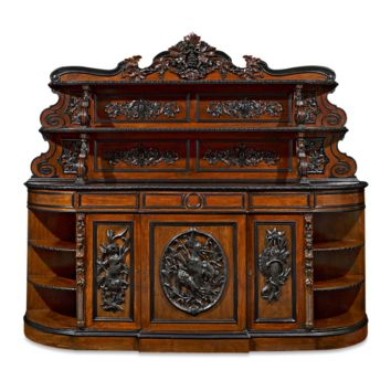 Antique Furniture, French Furniture, Napoleon III-period Mahogany Sideboard at rauantiques.com