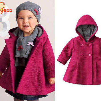 Winter Child Coat Girl Jacket Pink Baby Girl Jacket Fashion Children's Coats 1-3 Years Size Infant Outerwear