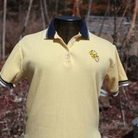 Blake & Hollister Yellow Bumblebee Polo Rugby Collared Shirt Ladies Size Medium