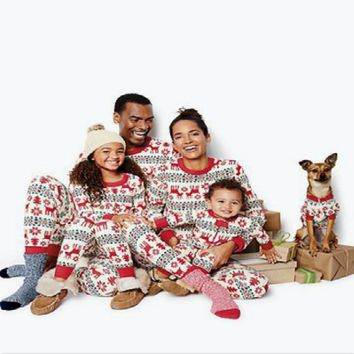 Family Clothes 2016 Matching Family Pajamas Sets New Cartoon Family Christmas Pajamas Sleepwear Nightwear Toddler Rompers