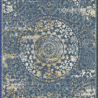 Dynamic Rugs Essence Dark Blue Distressed Rectangle Area Rug